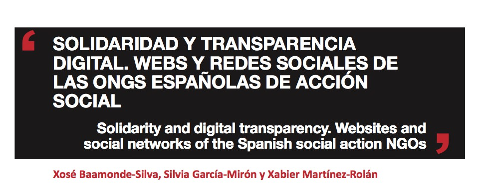 Solidaridad y transparencia digital. Webs y redes sociales de las ONGs españolas de acción social