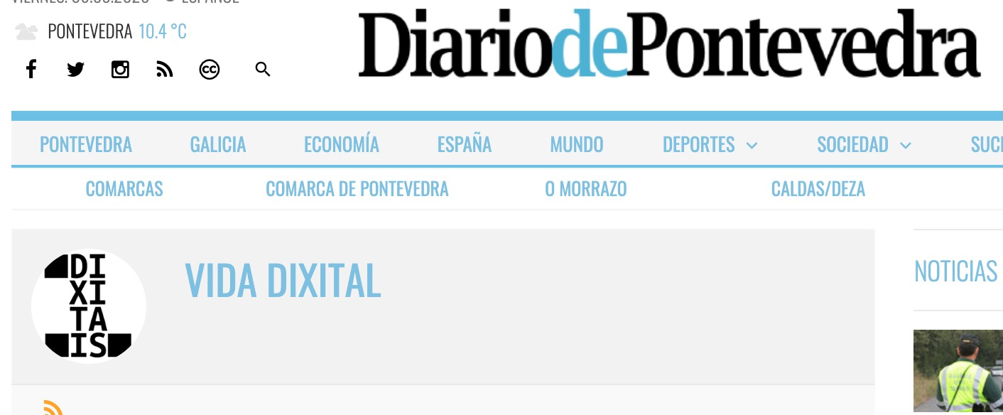 Vida Dixital no Diario de Pontevedra